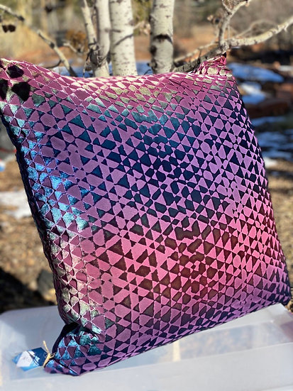 Kevin O'Brien Triangles velvet pillows