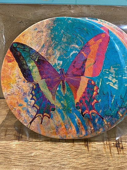 Butterflies rpulpboard coaster set