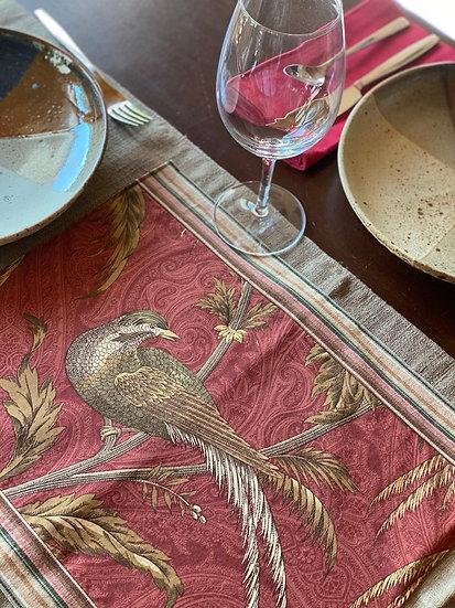 "Marbel's table ""Bird"" runner"