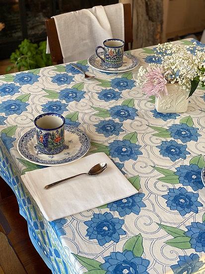 "Block print ""Klimt"" tablecloth"