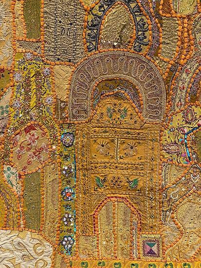 """""""The Door"""", vintage Indian wedding Sari"""