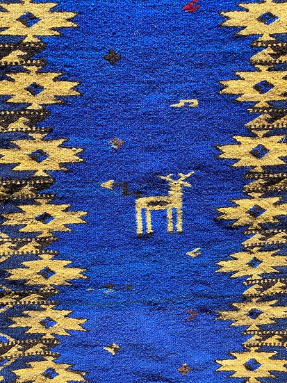 "Sergio Martinez rug ""Animal Blue"" (2'x3')"