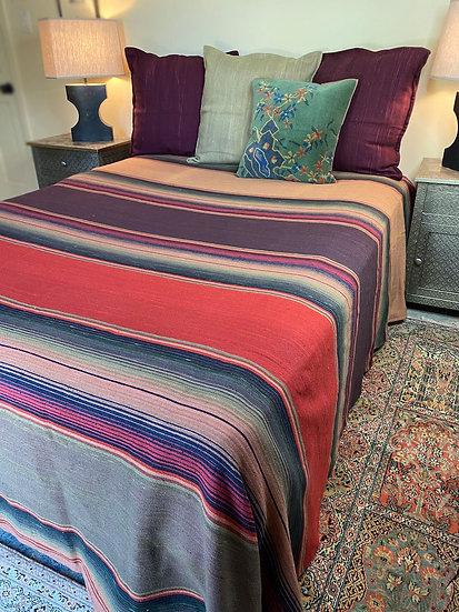"""Sergio Martinez cotton bedspread """"Egg Plant"""""""