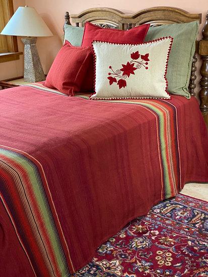 "Sergio Martinez wool bedspread ""Rust Serape"""
