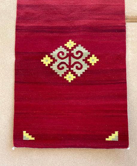 "Sergio Martinez rug ""Red"" (33""x53.5"")"