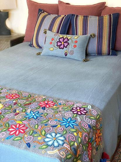 Libeco Napoli Vintage Linen Coverlet/Blanket