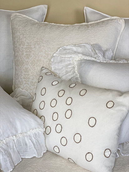 Kevin O'Brien Oval Latte Pillow