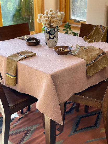 Libeco Napoli Vintage Apricot Tablecloth