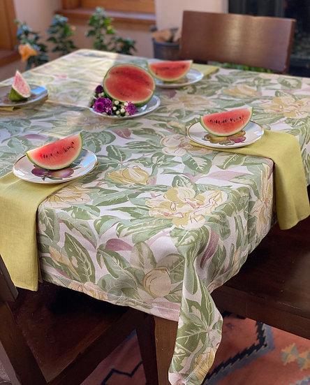 "April Cornell ""Magnolia"" outdoor tablecloth"