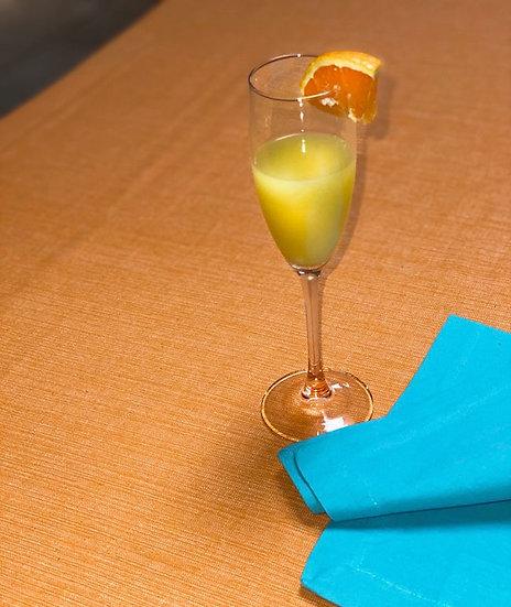 "Orange cotton tablecloth 60""x120"""