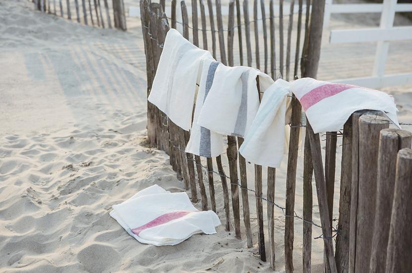 Libeco Porticcio linen tea towels SALE