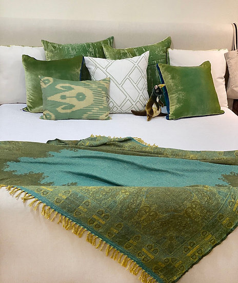 Boiled wool throw from India