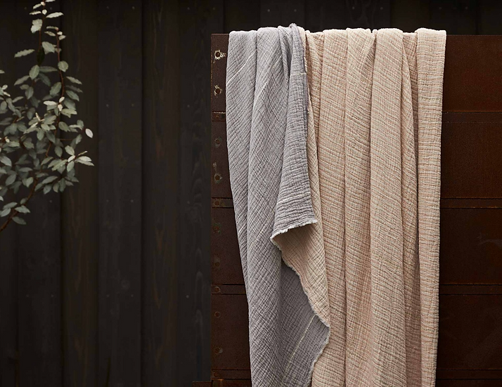Coyuchi Topanga organic matelasse blankets/coverlets (2 colors)