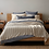 Thumbnail: Coyuchi Cascade Shadow Stripe organic cotton blankets/coverlets