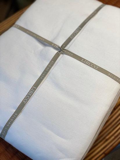 Libeco white linen sheets