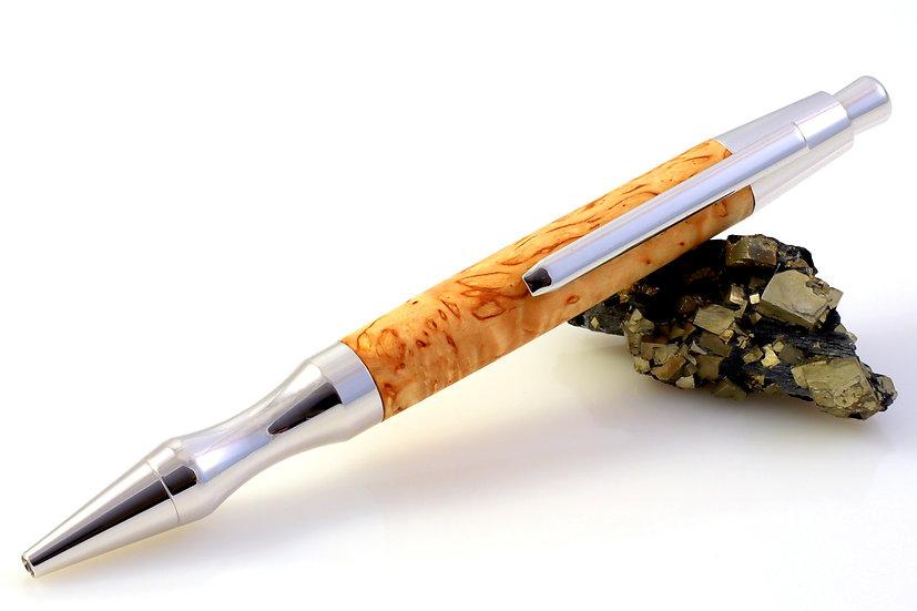 Karelische Maserbirke - Rhodium - Kugelschreiber