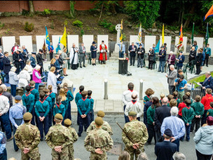 Official dedication of Congleton cenotaph
