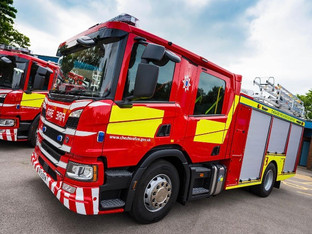 Industrial building fire in Macclesfield