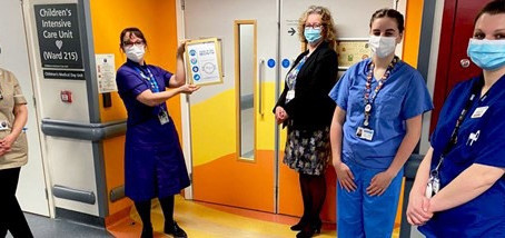 Children's team thanked for taking on care of adult intensive care patients during pandemic