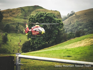 Air ambulance and mountain rescue volunteers called to Thor's cave after 83 year old fell