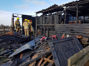 Firefighters tackle blaze at stables in Ipstones