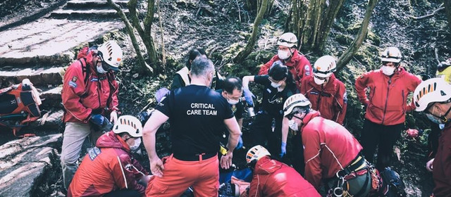 Mountain rescue, air ambulance and WMAS called to Thors cave