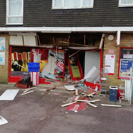 Detectives appeal after post office ram raided