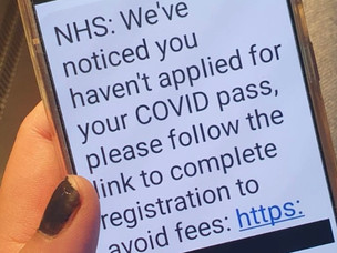 People urged to watch out for phoney NHS Covid Pass texts