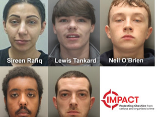 Gang jailed after targeting 162 homes and stealing cars worth £2.6m