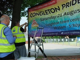 Congleton Pride 'Disgusted' after banner taken down by church