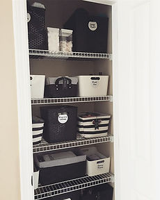 Black & White Linen Closet