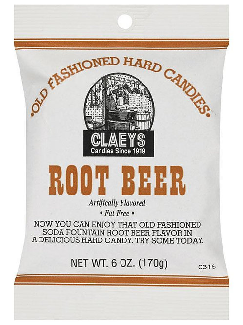 Claeys  Old Fashioned  Root Beer  Hard Candy  6 oz.