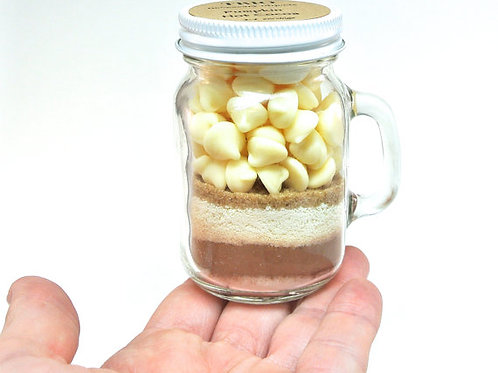 Pumpkin Hot Chocolate Mix in 4 oz Mason Jar Mug