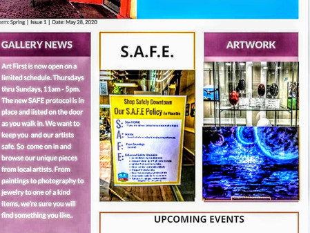 Art First June 2020 Newsletter