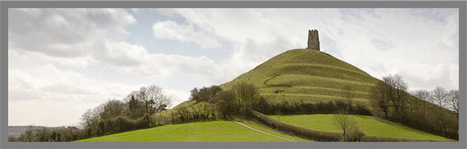 Historic Glastonbury Tor, popular tourist destinaton