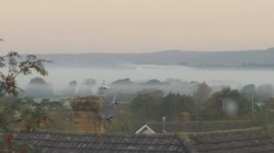The mists of Avalon seen from window