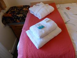 Bath robe and shower gel