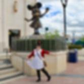Alison Egitto making a fool of herself in Disneyland Paris
