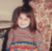 The artist in her natural young state of 'busted up'