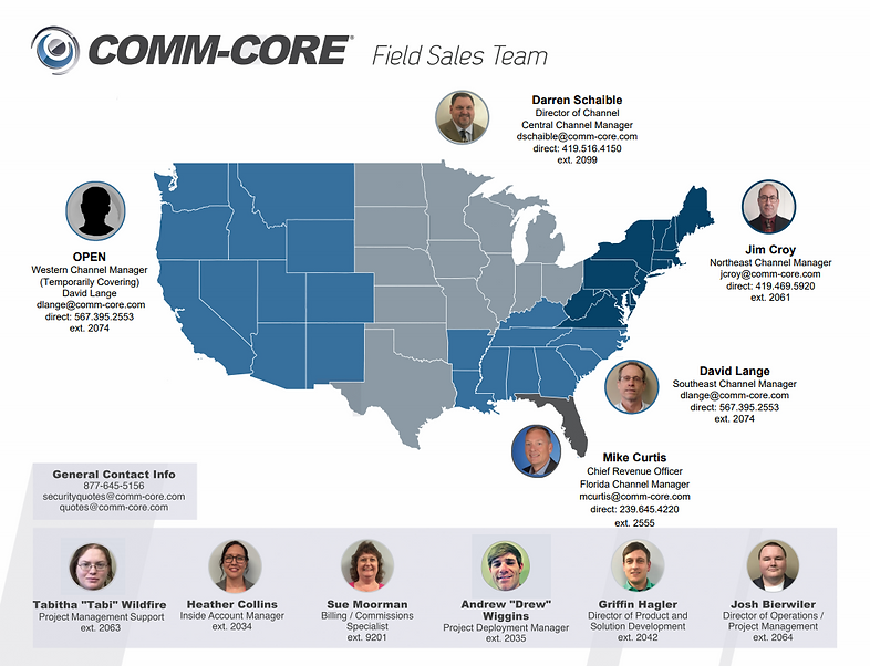 Comm-Core Field Sales Team