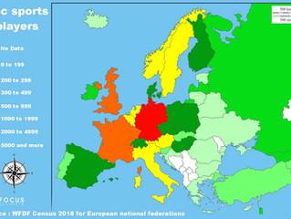 L'europe des sports de disques.