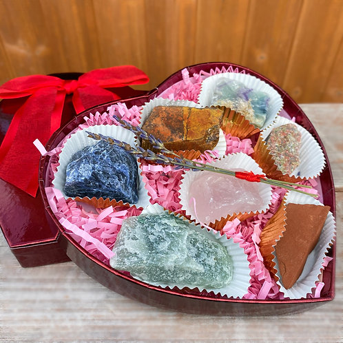 Heart Box of Crystals