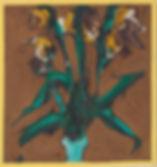 """Iris, 1966, 25.5"""" x 25"""", oil on canvas"""