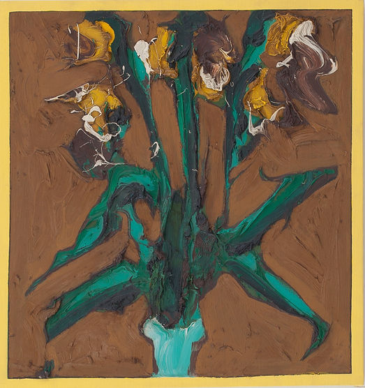 "Iris, 1966, 25.5"" x 25"", oil on canvas"