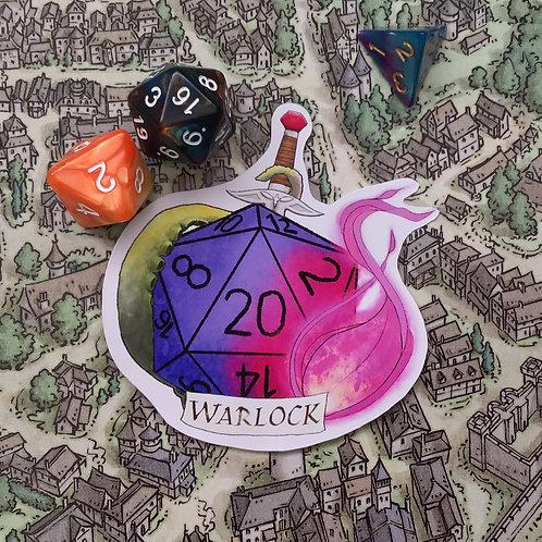 Warlock Sticker DnD