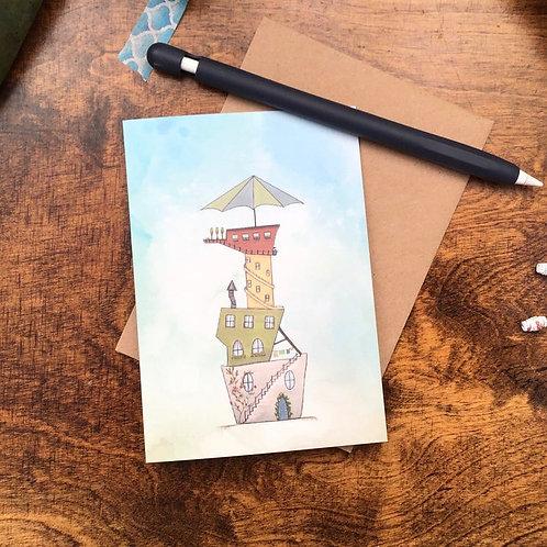 Summer House Greetings Card