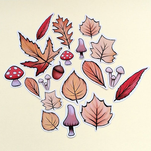 Autumn Leaves Sticker Pack