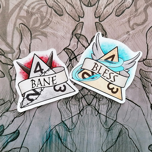 Bane & Bless Stickers