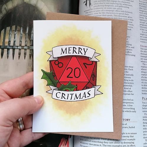 Merry CRITmas Card - A6 Christmas Card