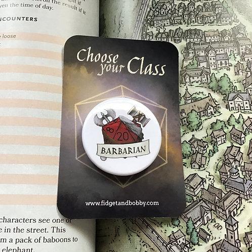 Barbarian DnD  Button Badge